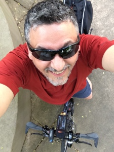 A post-ride selfie