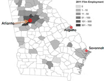 GA Film Emp Map