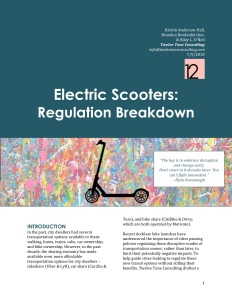 Electric Scooter - Regulation Breakdown (12 Tone Consulting)